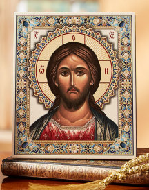 Christ Embossed Leatherette Icon