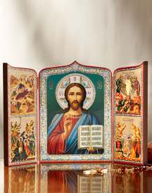 Christ Story Icon Triptych