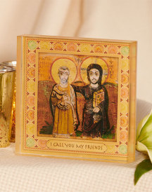 Christ the True Friend Acrylic Glass Desktop Icon