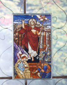 Christ Victorious Glass Suncatcher