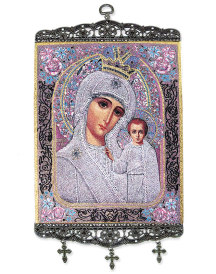 Madonna of the Roses Wall Hanging - 9