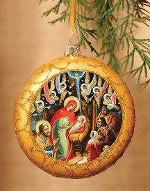 Classic Nativity Icon Ornament