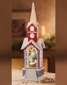 Country Christmas Illuminated Church