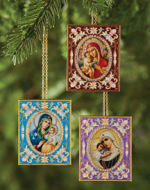 Deluxe Enamel Ornament Set