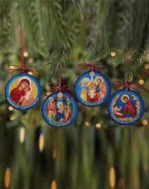 Monastery Icons Christmas Ornament Set