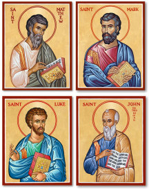 Discounted Four Evangelists Icon Set