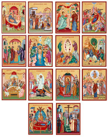 Discounted Fourteen Great Feasts Icon set