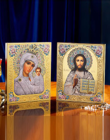 Discounted Pair - Christ and Madonna of the Roses