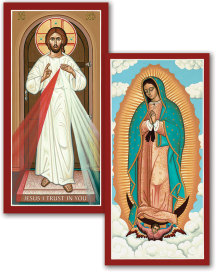 Discounted pair: Divine Mercy & Guadalupe - two 7
