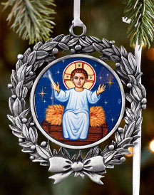 Divine Child Pewter Ornament