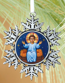 Divine Child snowflake ornament