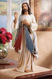 "Divine Mercy figurine 25"""