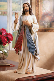 ON SALE Divine Mercy figurine 9.5