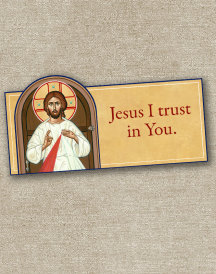 Divine Mercy inspirational magnet