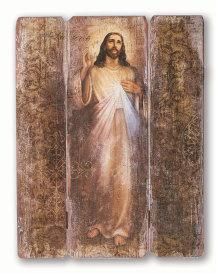 Divine Mercy Rustic Panel