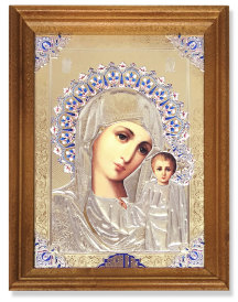 NEW Embossed Mother of God Icon