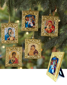 Embossed Russian Icon Ornaments