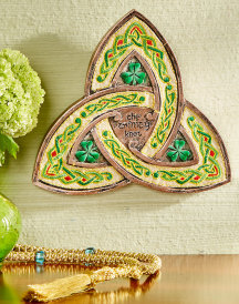 Embroidered Trinity Knot Plaque