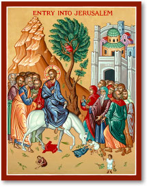 Entry into Jerusalem icon - 11