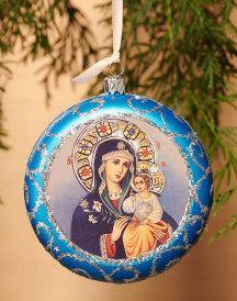 Blue Medallion Ornament - Eternal Bloom