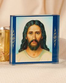 Face of Christ Acrylic Glass Desktop Icon