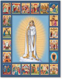 Fatima Rosary Icon