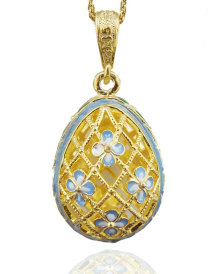 Filigree Egg Pendant