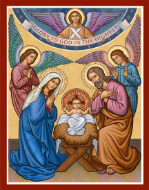 Glory to God icon magnet