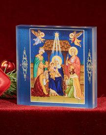 Glory to the Newborn King Acyrlic Glass Icon