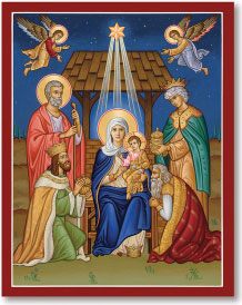 Glory to the Newborn King icon - 3