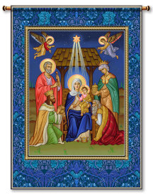 Glory to the Newborn King Wall Hanging 26