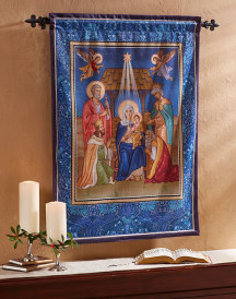 Glory to the Newborn King Wall Hanging 36