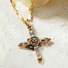 Gold and Crystal Cross
