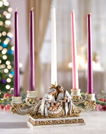 Gold & Ivory Advent Candleholder