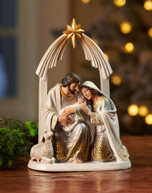 Gold and Silver Nativity Figurine