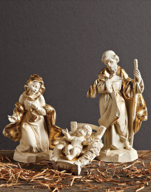 Gold Leaf Nativity Set