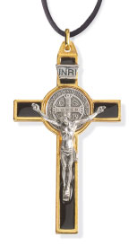 Gold-Plated Saint Benedict Cross