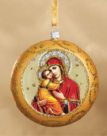 Gold icon medallion ornament