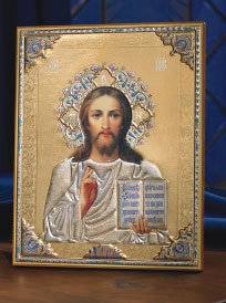 Embossed Icon of Christ