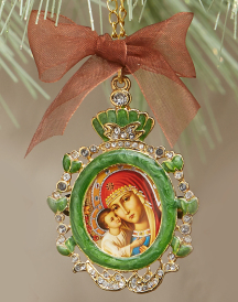 Green Oval Icon Ornament