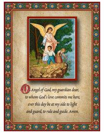Guardian Angel Prayer Plaque