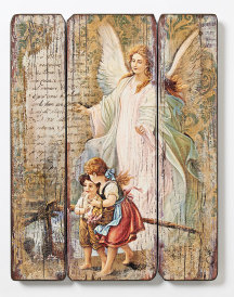 Guardian Angel Rustic Wall Panel