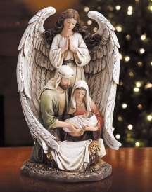 Guardian Angel with the Holy Family Figurine