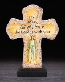 Hail Mary Illuminated Cross