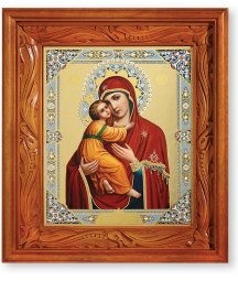 Hand Carved Icon Shrine Rectangular