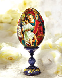 Hand painted Icon Egg - medium