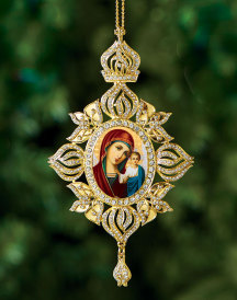 Russian Madonna Heirloom Icon Ornament