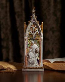 Holy Family Illuminated Gothic Arch Figurine