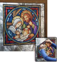 Holy Family Nativity window vinyl
