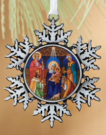 Holy Family snowflake ornament